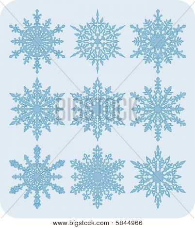 Set of snowflakes nr1