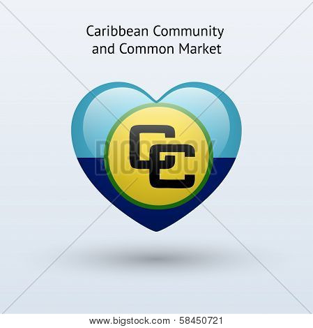 Love Caribbean Community and Common Market symbol.