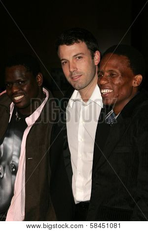 LOS ANGELES - NOVEMBER 15: Ben Affleck and Archie Khambula at the Los Angeles Premiere of