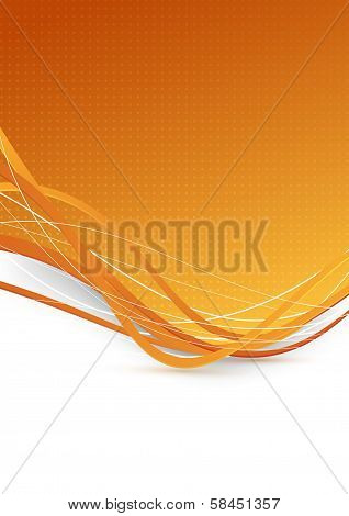 Abstract Background With Golden Waves
