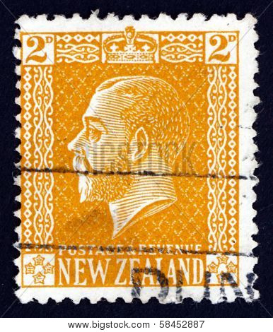Postage Stamp New Zealand 1916 King George V, Portrait