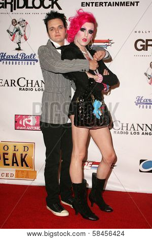 LOS ANGELES - DECEMBER 31: Clint Catalyst and Jeffree Star at the Gridlock New Years Eve 2007 Party on December 31, 2006 at Paramount Studios, Los Angeles, CA.
