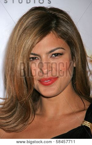 LOS ANGELES - DECEMBER 08: Eva Mendes at Flaunt's 8th Annual Anniversary and Toy Drive benefitting on December 08, 2006 at The Edison in Los Angeles, CA.