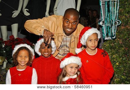 Kanye West Holiday Window Lighting to benefit the Kanye West Foundation Loop Dreams Program, Stella McCartney Boutique, Los Angeles, CA, December 5, 2006.
