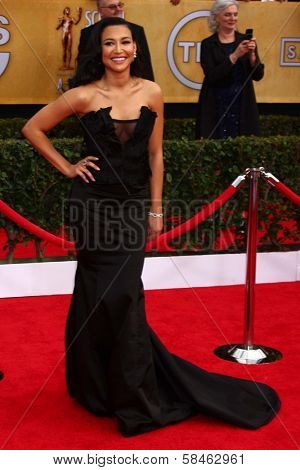 Naya Rivera at the 19th Annual Screen Actors Guild Awards Arrivals, Shrine Auditorium, Los Angeles, CA 01-27-13