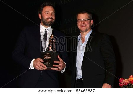 Ben Affleck, Matt Damon at the 2013 SBIFF Modern Masters Award presented to Ben Affleck, Arlington Theater, Santa Barbara, CA 01-25-13