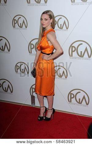 Amanda Seyfried at the 24th Annual Producers Guild Awards, Beverly Hilton, Beverly Hills, CA 01-26-13