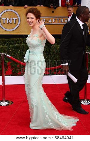 Ellie Kemper at the 19th Annual Screen Actors Guild Awards Arrivals, Shrine Auditorium, Los Angeles, CA 01-27-13
