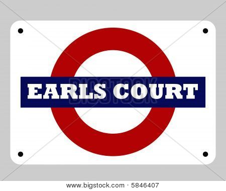Earls Court Tube Sign