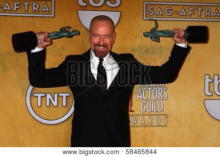 Bryan Cranston at the 19th Annual Screen Actors Guild Awards Press Room, Shrine Auditorium, Los Angeles, CA 01-27-13