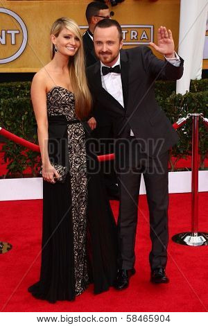 Aaron Paul at the 19th Annual Screen Actors Guild Awards Arrivals, Shrine Auditorium, Los Angeles, CA 01-27-13
