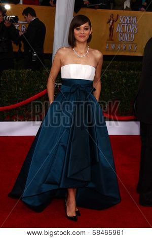 Marion Cotillard at the 19th Annual Screen Actors Guild Awards Arrivals, Shrine Auditorium, Los Angeles, CA 01-27-13