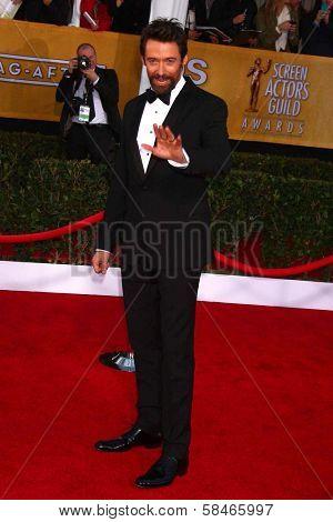 Hugh Jackman at the 19th Annual Screen Actors Guild Awards Arrivals, Shrine Auditorium, Los Angeles, CA 01-27-13