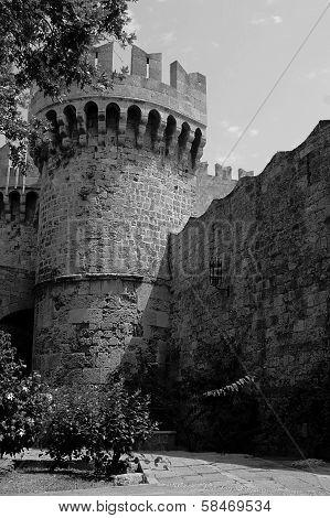 bastille in citadel of Rhodes