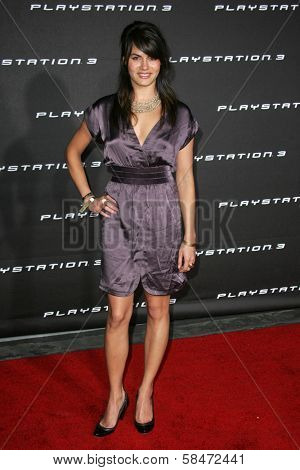 LOS ANGELES - OCTOBER 08: Michelle Belegrin at the Playstation 3 Launch Party October 08, 2006 in 9900 Wilshire Blvd, Beverly Hills, CA.
