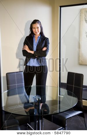 Young confident businesswoman