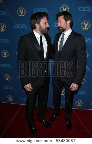 Ben Affleck, Hugh Jackman at the 65th Annual Directors Guild Of America Awards Arrivals, Dolby Theater, Hollywood, CA 02-02-13