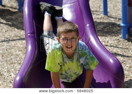 Young Boy At The Playground