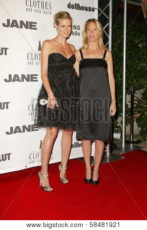 BEVERLY HILLS - JULY 20: Heidi Klum and Brandon Holley at Jane Magazine's