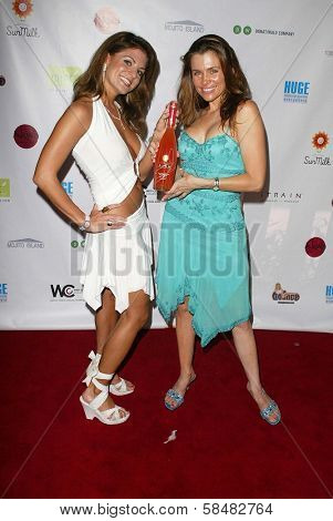 SANTA MONICA - JULY 23: Bridgetta Tomarchio and Alicia Arden at the Sexy Summer Soire Party hosted by H.U.G.E benefiting Heal The Bay at AKWA Restaurant and Club on July 23, 2006 in Santa Monica, CA.