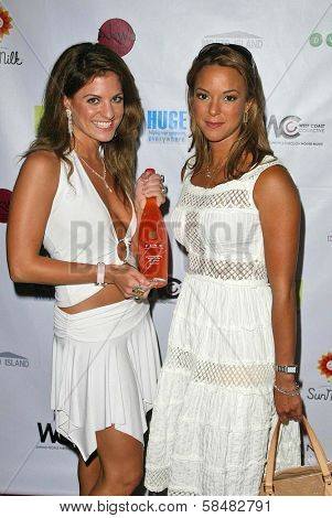 SANTA MONICA - JULY 23: Bridgetta Tomarchio and Eva La Rue at the Sexy Summer Soire Party hosted by H.U.G.E benefiting Heal The Bay at AKWA Restaurant and Club on July 23, 2006 in Santa Monica, CA.
