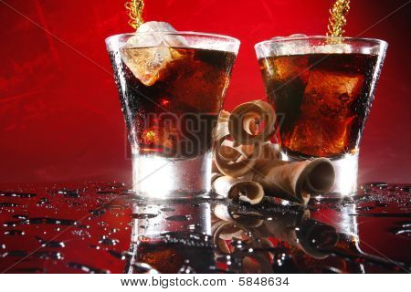 Black russian on red
