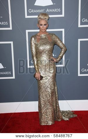 Jenna Jameson at the 55th Annual GRAMMY Awards, Staples Center, Los Angeles, CA 02-10-13