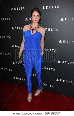 Stephanie March at Delta Airline's Celebration of LA's Music Industry, Getty House, Los Angeles, CA 02-07-13