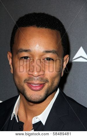 John Legend at Delta Airline's Celebration of LA's Music Industry, Getty House, Los Angeles, CA 02-07-13