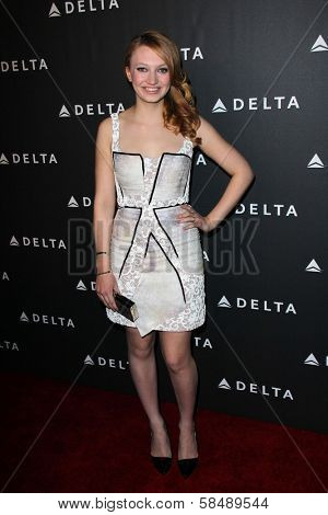 Jacqueline Emerson at Delta Airline's Celebration of LA's Music Industry, Getty House, Los Angeles, CA 02-07-13