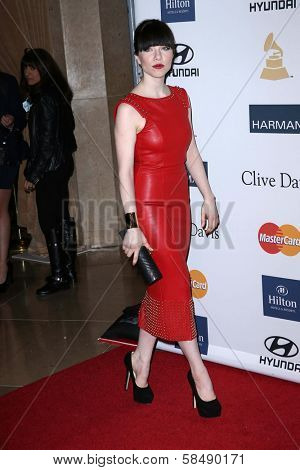 Carly Rae Jepsen at the 2013 Clive Davis And Recording Academy Pre-Grammy Gala, Beverly Hilton Hotel, Beverly Hills, CA 02-09-13