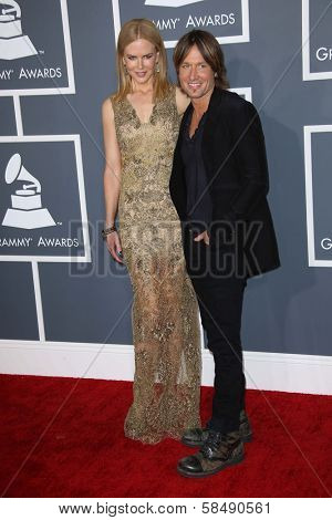 Nicole Kidman, Keith Urban at the 55th Annual GRAMMY Awards, Staples Center, Los Angeles, CA 02-10-13