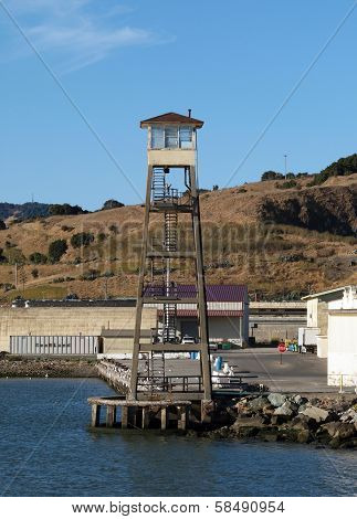 Lookout Tower At San Quentin State Prison California