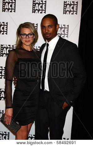 Eliza Coupe, Damon Wayans Jr. at the ACE Eddie Awards 2013, Beverly Hilton, Beverly Hills, CA 02-16-13