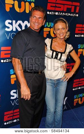 HOLLYWOOD - JULY 11: Joe Theismann and Kelly Carlson at ESPN The Magazine's