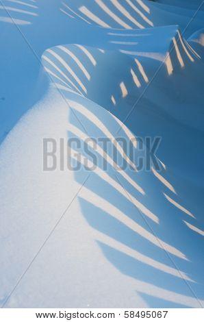 Striped snowdrift.