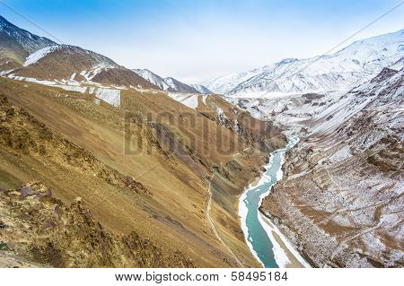 Frozen river Indus