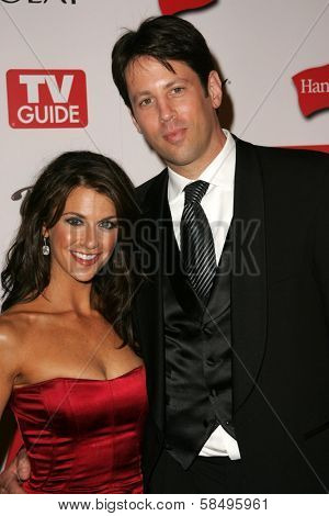 HOLLYWOOD - AUGUST 27: Samantha Harris and husband Michael at the TV Guide Emmy After Party at Social August 27, 2006 in Hollywood, CA.