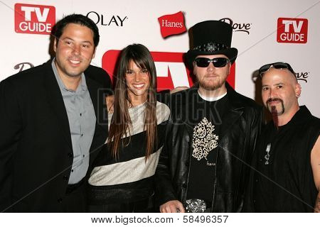 HOLLYWOOD - AUGUST 27: Greg Grunberg and Missy Peregrym with Ben Moody and Michael Fish Herring at the TV Guide Emmy After Party at Social August 27, 2006 in Hollywood, CA.