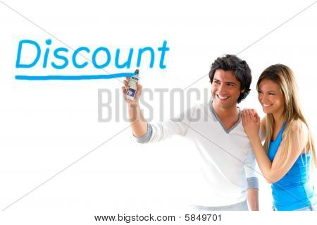 Man And Girl Writing Discount Prices