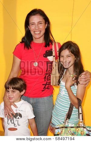 HOLLYWOOD - NOVEMBER 05: Mimi Rogers and son and daughter at Bogart Backstage 2006 Children's Choice Awards at Palladium November 05, 2006 in Hollywood, CA