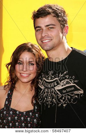 HOLLYWOOD - NOVEMBER 05: Mandy Musgrave and Matt Cohen at Bogart Backstage 2006 Children's Choice Awards at Palladium November 05, 2006 in Hollywood, CA