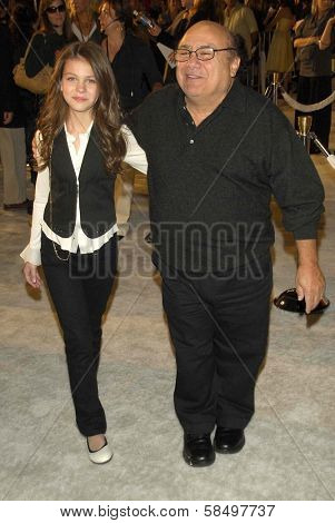 HOLLYWOOD - NOVEMBER 12: Danny DeVito and daughter at the world premiere of