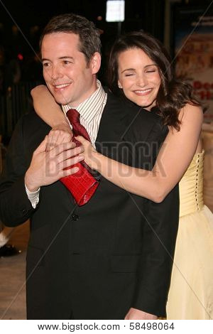HOLLYWOOD - NOVEMBER 12: Matthew Broderick and Kristin Davis at the world premiere of