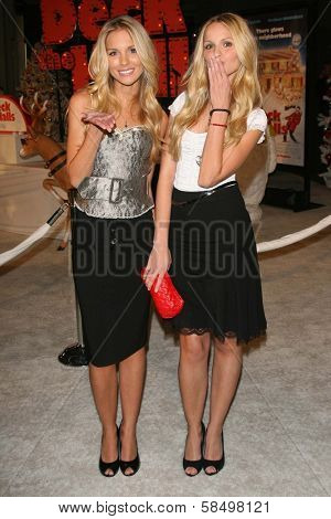 HOLLYWOOD - NOVEMBER 12: Sabrina Aldridge and Kelly Aldridge at the world premiere of