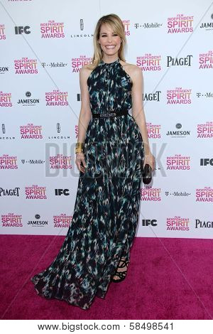 Leslie Bibb at the 2013 Film Independent Spirit Awards, Private Location, Santa Monica, CA 02-23-13