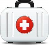 image of first aid  - First aid box icon in vector format - JPG