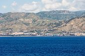 pic of messina  - Highways along the Italian coast near the Straights of Messina