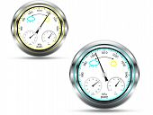 stock photo of barometer  - Two barometer instruments - JPG