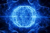 foto of lightning  - Ball lightning computer generated abstract fractal background - JPG